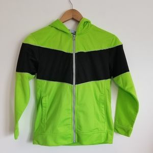 Starter boys neon green zipper hoodie jacket